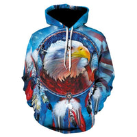 American Eagle Hoodies Flag Eagle Street Hoodie 2020 Casual Tops P016 - Tina Store