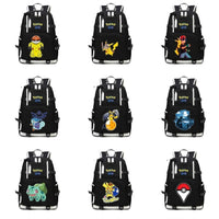 Anime Pokemon Backpack Pocket Monster School Bag