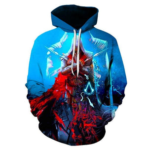 Assassins Creed Hoodie 3D Streetwear Mens Clothing Game Long Sleeve Hip Hop Hoodie - Tina Store