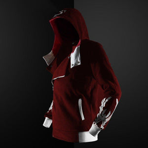 Assassins Creed Hoodie Gothic Coat Champion Jacket Mens Pocket Zipper Hip Hop Top Harajuku - Tina Store