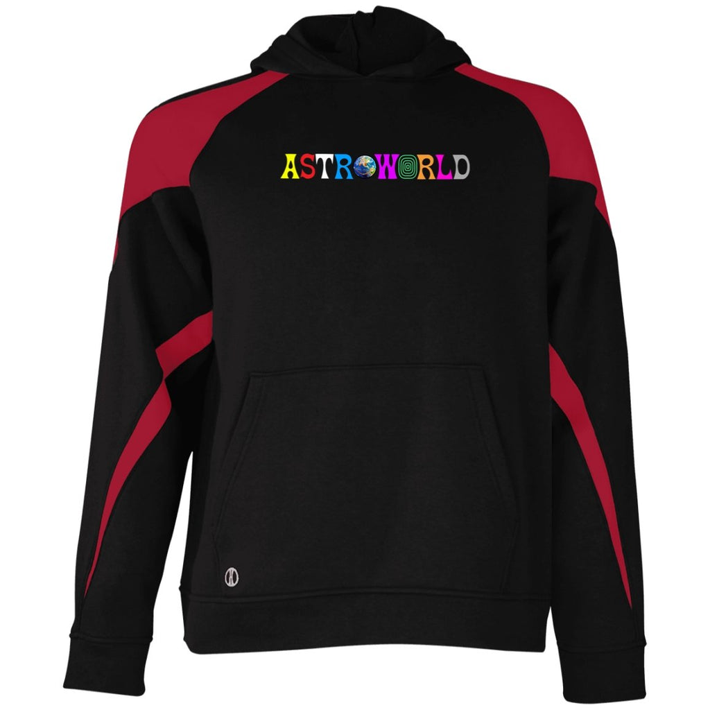 Astroworld Sweater Wish You Were Here Holloway Youth Colorblock Hoodie - Tina Store
