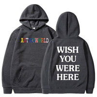 Astroworld Sweater Wish You Were Here Hoodies Fashion Pullover