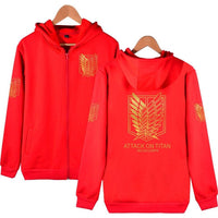 Attack On Titan Shingeki Long Sleeve Anime Cosplay Costumes Cotton Boys Mens Hoodie AT3 - Tina Store