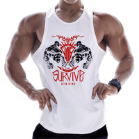 Battle Sleeveless Hoodie Sport Gym Top Running Vest Men Fitness Bodybuilding H0257 - Tina Store