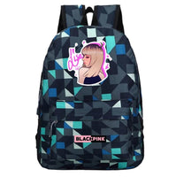Black Pink Backpack Korean Girl Group Student School Bag BB1574 - Tina Store