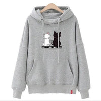 Cat Pouch Hoodie Pullover Cat Kawaii Poleron Mujer Blue Kangaroo Pocket Hoodie Grey Hoodie For Womens