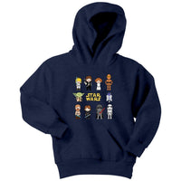 Characters star wars bb8 darth vader r2d2 Youth Hoodie - Tina Store
