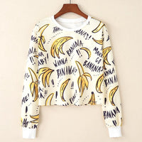 Crop Top Hoodie For Girls Harajuku BTS Banana Yellow Crop Top Hoodie