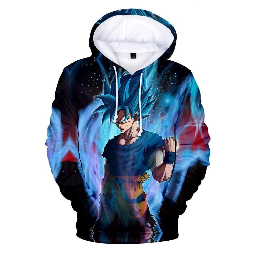 Dragon Ball Z 3D Printed Hoodies Mens Hoodie Long Sleeve Casual Boys and Kids A112 - Tina Store