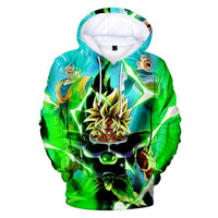 Dragon Ball Z 3D Printed Hoodies Mens Hoodie Long Sleeve Casual Boys and Kids YH6