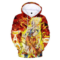 Dragon Ball Z 3D Printed Hoodies Mens Hoodie Long Sleeve Casual Boys and Kids YH8