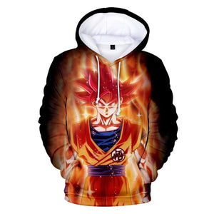 Dragon Ball Z Hoodie 3D Anime Goku Pocket Hoodies Fashion Streetwear Mens Hoodie DB1 - Tina Store