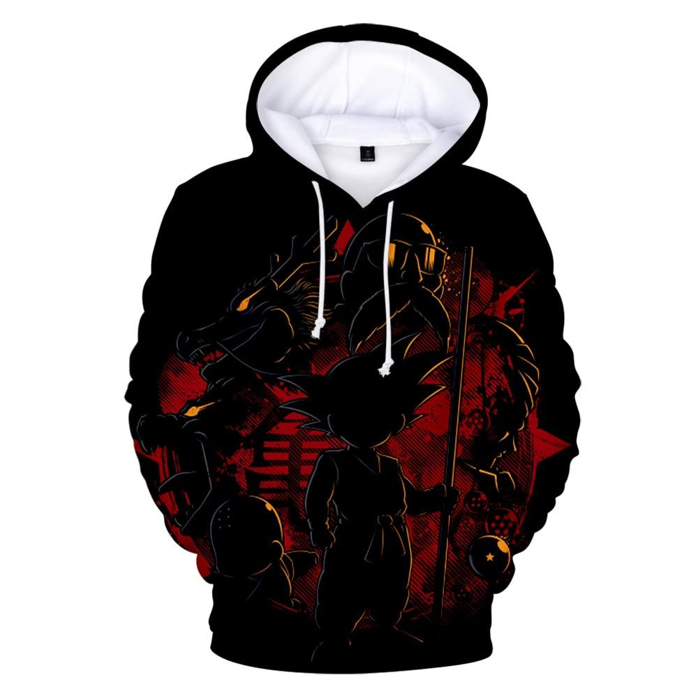 Dragon Ball Z Hoodie 3D Anime Goku Pocket Hoodies Fashion Streetwear Mens Hoodie DB5 - Tina Store