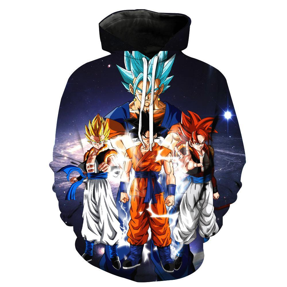 Dragon Ball Z Hoodie 3D Pullovers Outerwear Jacket Tracksuits Mens Hoodie DBZ10 - Tina Store