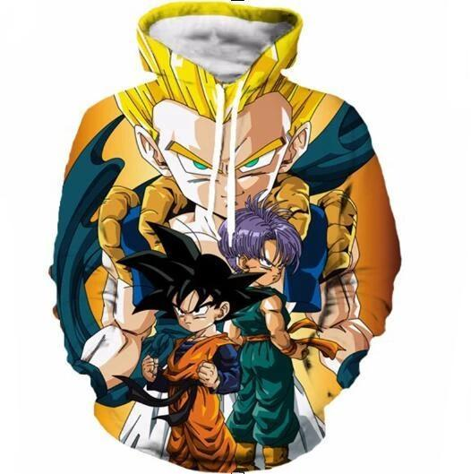 Dragon Ball Z Hoodie 3D Pullovers Pocket Long Sleeve Outerwear Mens Hoodie DBLZ8 - Tina Store