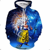 Dragon Ball Z Hoodie 3D Pullovers Pocket Long Sleeve Outerwear Mens Hoodie DBLZ9 - Tina Store