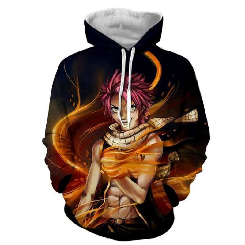 Fairy Tail Hoodie 3D Anime Long Sleeve Pullovers Cosplay Jumpers A2450 - Tina Store