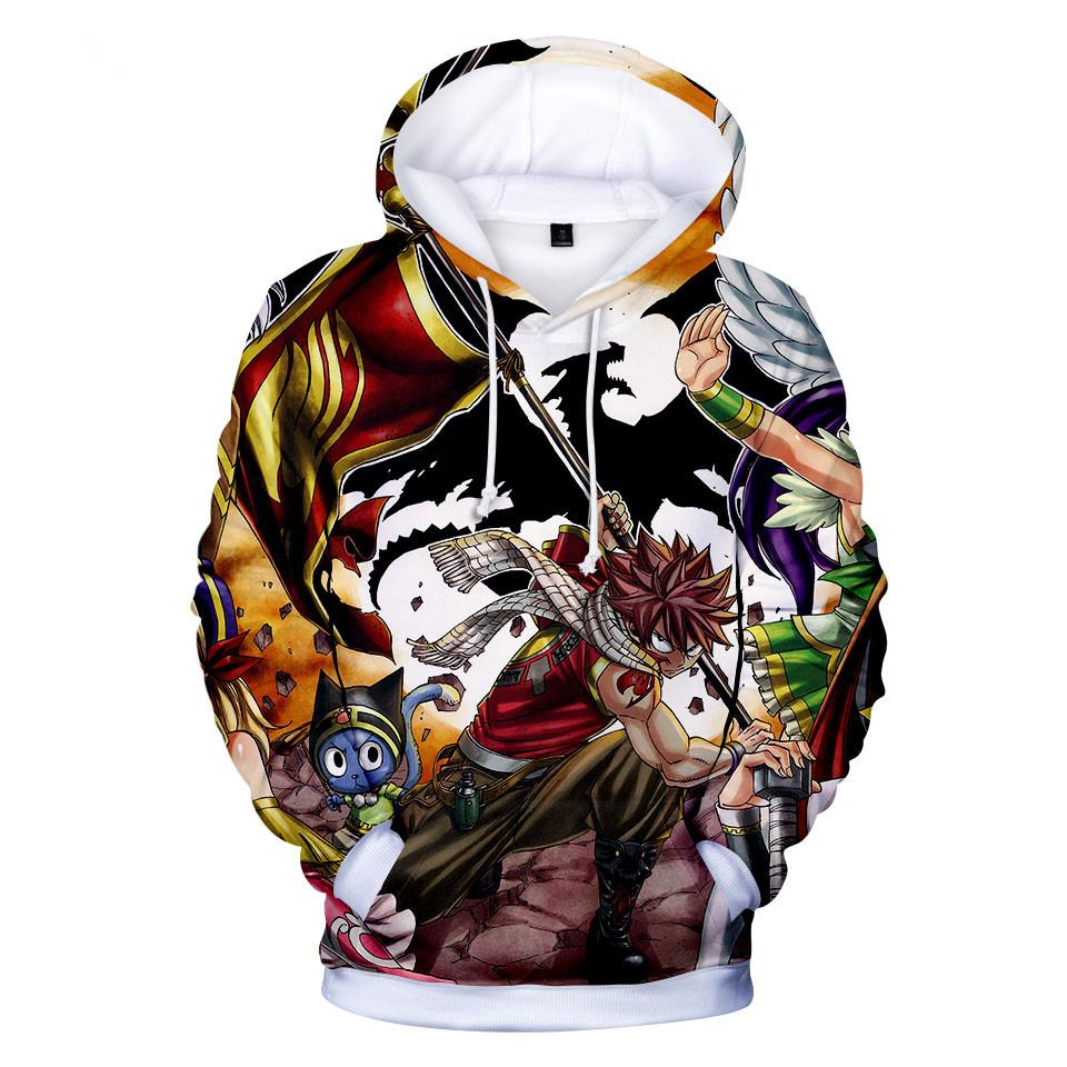 Fairy Tail Hoodie 3D Boys Girls Funny Casual Kids Clothes E128 - Tina Store