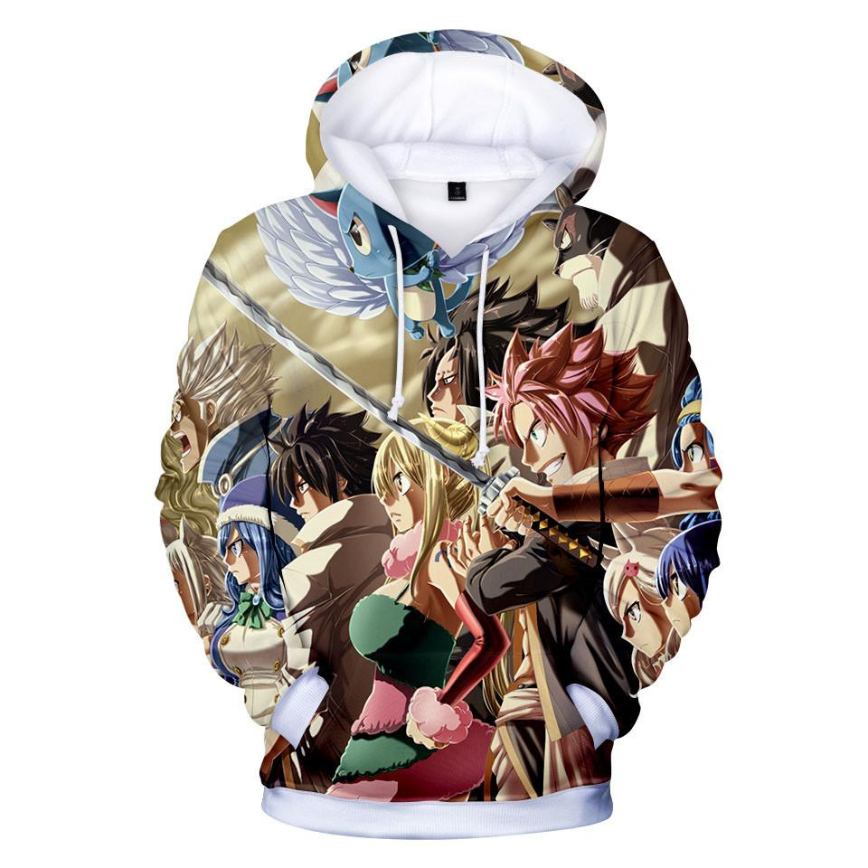 Fairy Tail Hoodie 3D Long Sleeve Cartoon Jacket Coat Children Clothes 3 to 14 Years T1116 - Tina Store