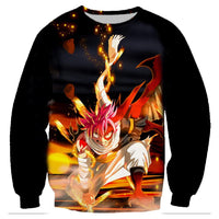 Fairy Tail Hoodie 3D Natsu Dragneel Hiphop Boys Casual E1585 - Tina Store