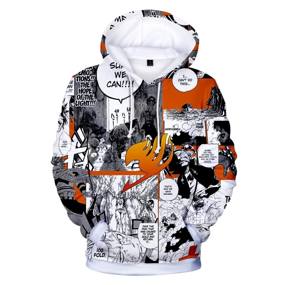Fairy Tail Hoodie 3D Oversized Pullovers Unisex A2541 - Tina Store