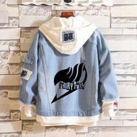 Fairy Tail Hoodie Anime Jeans Coat Jacket Fashion Unisex - Tina Store