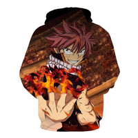 Fairy Tail Hoodie Autumn Winter 3D Hoodies Cosplay Casual Zipper W1877 - Tina Store