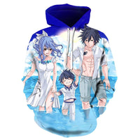 Fairy Tail Hoodie Autumn Winter 3D Hoodies Cosplay Casual Zipper W1878 - Tina Store