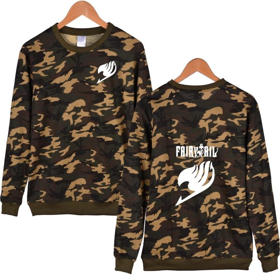 Fairy Tail Hoodie Camouflage Winter Casual Classic Fashion For Men - Tina Store