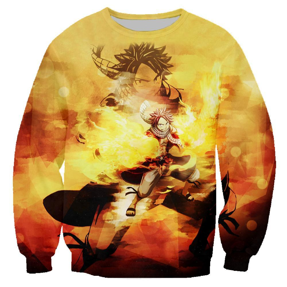 Fairy Tail Hoodie Natsu Men Jacket 3D Hip Hop Tops Clothing T1426 - Tina Store