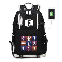 Fortnite Battle Royale multi function USB charging backpack Boys and Girls Students