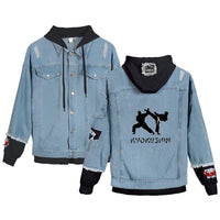 Jean Jackets With Hoodies Kyokushin Hoodie Autumn Winter Unisex Fashion