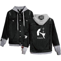Jean Jackets With Hoodies Kyokushin Hoodie Autumn Winter Unisex Fashion HD1525 - Tina Store