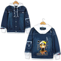 Jean Jackets With Hoodies Naruto Hoodie Denim Coat Jacket Cosplay Costumes