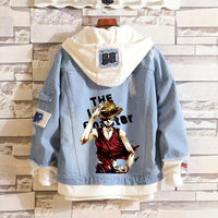 Jean Jackets With Hoodies One Piece Hoodie Denim Jacket Unisex Clothing - Tina Store