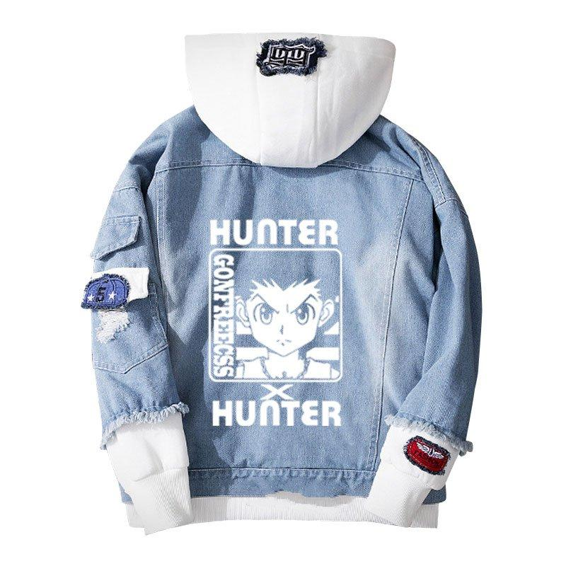 Jean Jackets With Hoodies X Hunter Hoodie Killua Zoldyck Cosplay Warm Loose Sweatshirt - Tina Store