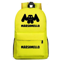 Marshmello Backpack Electronic Music DJ Young Student Schoolbag A1527