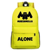 Marshmello Backpack Electronic Music DJ Young Student Schoolbag A1528