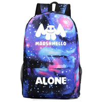 Marshmello Backpack Electronic Music DJ Young Student Schoolbag A1529