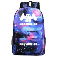Marshmello Backpack Electronic Music DJ Young Student Schoolbag A1530