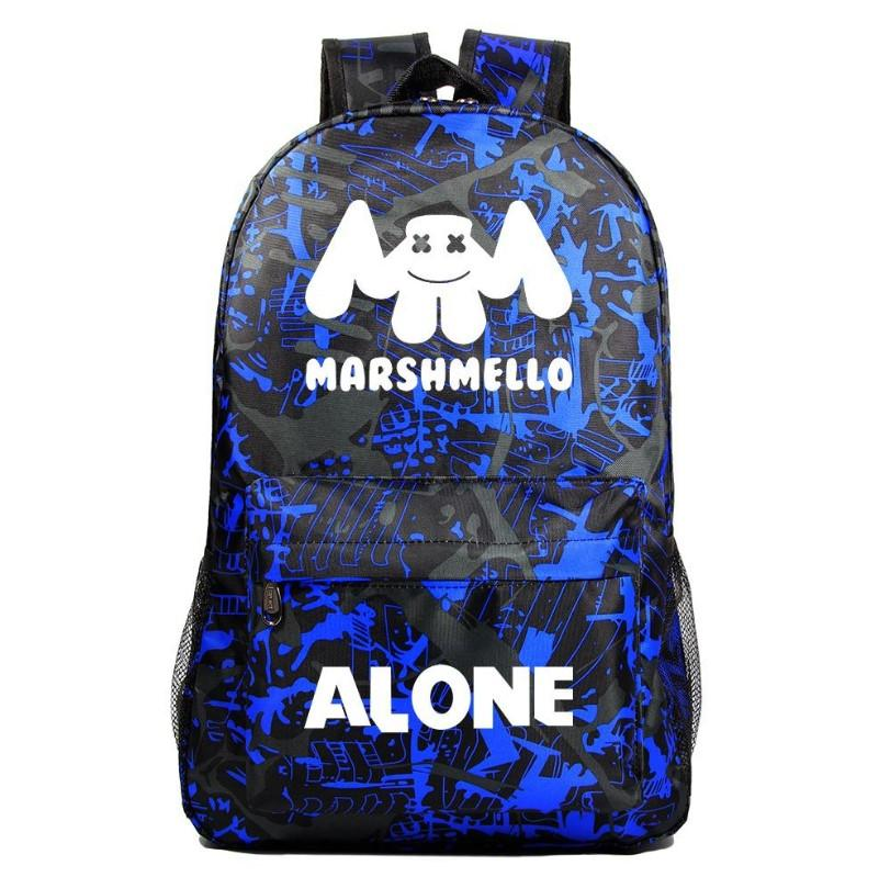 Marshmello Backpack Electronic Music DJ Young Student Schoolbag A1532 - Tina Store