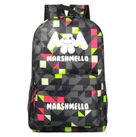 Marshmello Backpack Electronic Music DJ Young Student Schoolbag A1533