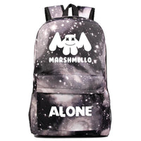 Marshmello Backpack Electronic Music DJ Young Student Schoolbag A1534