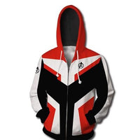 Mens Zip Up Hoodies Avengers Endgame Quantum Realm 3D Print Cosplay Casual Coat White Hoodie For Mens