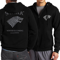 Mens Zip Up Hoodies Master Game of Thrones Targaryen Fire & Blood Tracksuits Harajuku Black Hoodie For Mens C3 - Tina Store