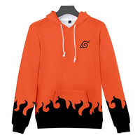 Mens Zip Up Hoodies Uzumaki Naruto Cosplay Orange Hoodie Unisex And Kids