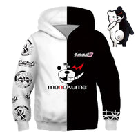 Monokuma Hoodie Teddy Costume Pajamas Sleepwear Cosplay For Kids