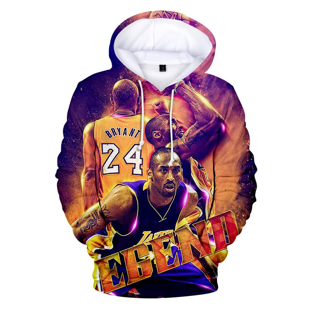 NBA Hoodie Kobe Bryant Lakers 24 Pullover Casual Fashion Hip Hop Streetwear A1253 - Tina Store