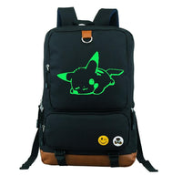Pokemon Go Pikachu Noctilucent Backpacks Children Game Bagpack Teenages Cartoon