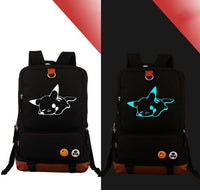 Pokemon Go Pikachu Noctilucent Backpacks Children Game Bagpack Teenages Cartoon - Tina Store